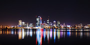 City Buildings Framed Prints - Perth City of Lights Framed Print by Phill Petrovic