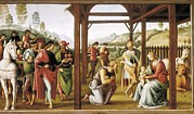 Adoration Framed Prints - Perugino, Pietro Vannucci, Called Il Framed Print by Everett