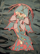 Catfish Mixed Media Prints - Pesca de la Flora Print by Alison  Grieco