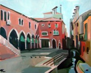 Buildings Mixed Media Originals - Pescheria by Filip Mihail