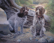 Hunting Pastels Prints - Pet/Hunting Dog Portraits Print by Ceci Bahr