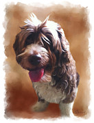 Pet Digital Art Metal Prints - Pet Portrait Metal Print by Michael Greenaway