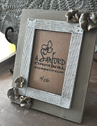 Rustic Ceramics Metal Prints - Petal to the Metal Metal Print by Amanda  Sanford