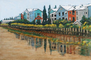 Beautiful Scenery Paintings - Petaluma Basin Street by Gerhardt Isringhaus