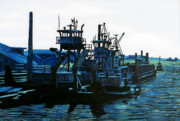 Beautiful Scenery Paintings - Petaluma Tugboats by Gerhardt Isringhaus
