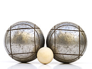 Trio Photo Prints - Petanque Set Print by Wim Lanclus