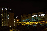 Baseball Parks Framed Prints - Petco Park Night Framed Print by Craig Carter