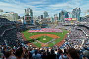 Petco Park Photo Framed Prints - Petco Park Season Opener 2011 Framed Print by Mark Whitt