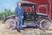 1920s Pastels - Pete and his Model-T by Barbara Torke