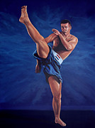Boxing Painting Prints - Peter Aerts  Print by Paul  Meijering