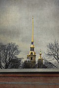 Weathervane Posters - Peter and Paul Fortress Poster by Elena Nosyreva