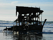 Neurotic Images Photography Prints - Peter Iredale Shipwreck Print by Chalet Roome-Rigdon