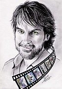Rings Drawings Prints - Peter Jackson Print by Joane Severin