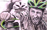 Mountain Road Pastels Prints - Peter Sagan Print by Eric Dee