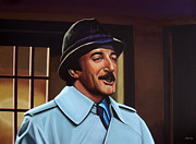 Show Painting Framed Prints - Peter Sellers as inspector Clouseau  Framed Print by Paul  Meijering