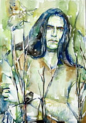 Vocalist Painting Framed Prints - Peter Steele Portrait.1 Framed Print by Fabrizio Cassetta