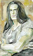 Vocalist Painting Framed Prints - Peter Steele Portrait.2 Framed Print by Fabrizio Cassetta