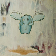 Featured Mixed Media Prints - Petes Angel Print by Konrad Geel