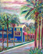 Beach Paintings - Petes Bar in Neptune Beach by Patricia Taylor