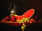 Petite Watermelon Print by Sean Taber