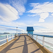 Dramatic Photos - Petone Pier Wellington New Zealand by Colin and Linda McKie