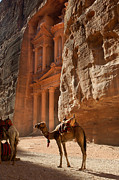 Holy Land Framed Prints - Petra Framed Print by Christian Heeb