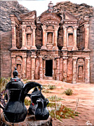 Jordan Paintings - Petra  by Mylene Le Bouthillier