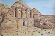 Jordan Paintings - Petra by Swati Singh