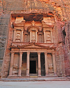 Treasury Framed Prints - Petra Treasury Framed Print by Tony Beck