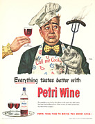 Petri Wine 1940s Usa Cooking  Bbq Print by The Advertising Archives