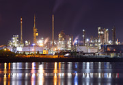 Production Photo Originals - Petrochemical plant in night  by Ioan Panaite