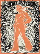 Political  Drawings - Petrograd Red seventh November Revolutionary poster depicting a Russian sailor by Sergei Vasilevich Chekhonin