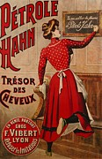 Advertisement Drawings Prints - Petrole Hahn Print by Boulanger Lautrec