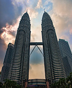 Asien Framed Prints - Petronas Twin Towers Framed Print by Joerg Lingnau