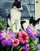 Pinto Paintings - Petunia Kittens by Sion Shadd