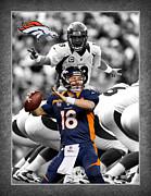 Peyton Manning Broncos Print by Joe Hamilton