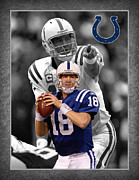 Indianapolis Art - Peyton Manning Colts by Joe Hamilton