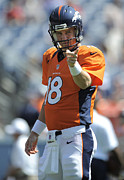 Hall Of Fame Metal Prints - Peyton Manning NFL Poster Metal Print by Sanely Great