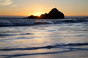 Pfeiffer Beach Art - Pfeiffer Beach Sunset II by Jenna Szerlag