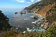 Big Sur Ca Metal Prints - Pfeiffer Burns Bay Metal Print by Adam Jewell