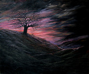 Spooky Scene Paintings - Phantom by Karen Barton