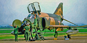 Vietnam War Art - Phantom Maintenance by Dale Jackson