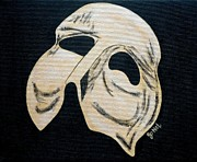 Mardi Gras Paintings - Phantom Mask by JoNeL  Art