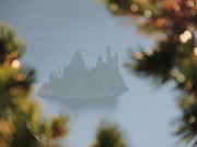 Photographs Mixed Media - Phantom Ship - Crater Lake National Park by Photography Moments - Sandi