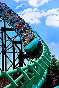 Screaming Posters - Phantoms Revenue Steel Roller Coaster Kennywood Park Poster by Amy Cicconi