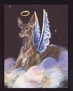 Pharaoh Pastels Prints - Pharaoh Hound Angel Print by Darlene Grubbs