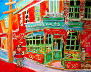 Store Window Display Paintings - Pharmacie Valois by Michael Litvack