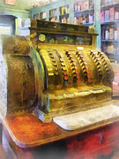 Bottle Metal Prints - Pharmacist - Cash Register in Pharmacy Metal Print by Susan Savad