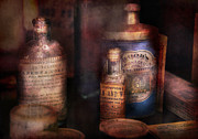 Nostalgia Art - Pharmacist - Medicine for Diarrhea and Burns  by Mike Savad