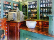 Drug Stores Photos - Pharmacist - Mortar and Pestle in Pharmacy by Susan Savad